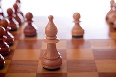 Corrispondenza di scacchi Backlit Immagine Stock