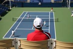 Corrispondenza di tennis Immagini Stock
