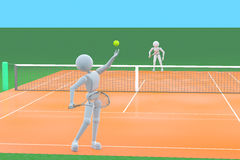 Corrispondenza di tennis Fotografia Stock Libera da Diritti