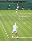 Corrispondenza di tennis Fotografie Stock