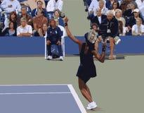 Corrispondenza di tennis della donna Immagini Stock Libere da Diritti