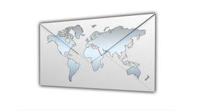Corrispondenza internazionale della posta immagini stock
