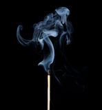 Corrispondenza nel fumo Fotografie Stock