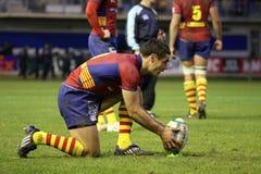 Corrispondenza USAP di rugby della tazza dell'Heineken contro Leicester Fotografie Stock