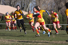 Corrispondenza USAT (Francia) v GETXO (Spai di rugby fotografie stock libere da diritti