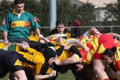 Corrispondenza USAT (Francia) v GETXO (Spai di rugby immagine stock