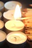 Corrispondenze e candele Immagine Stock Libera da Diritti