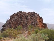 Corroboree Rock  in the East McDonnell ranges Royalty Free Stock Image