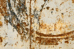 Corroded background. An old bus in a simple color  background Stock Image