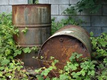 Corroded barrells Stock Photography