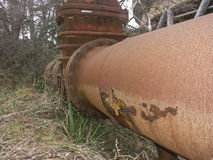 Corroded and damaged pipelines Royalty Free Stock Photo