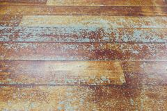 Damaged seasoned wooden floor plank with scratch marks needs res Stock Photo