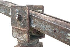 Corroded hinge detail Stock Photography