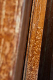 Corroded iron. Close-up of an oxidised iron column Royalty Free Stock Image