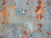 Corroded metal background. Rusty metal background with streaks of rust. Rust stains. Rystycorrosion. Stock Image