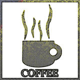 Corroded metal of Coffee sign Royalty Free Stock Photo