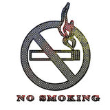 Corroded metal No smoking sign Royalty Free Stock Photo