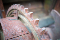 Corroded Mining Machinery Closeup royalty free stock image
