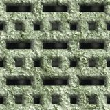 Corroded square vent. Seamless background Stock Image