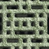 Corroded square vent. Seamless background Stock Photo