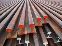 Corroded steel beam. Row of corroded steel beam Stock Photo