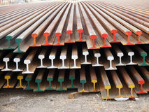 Corroded steel beam. Row of corroded steel beam Stock Image