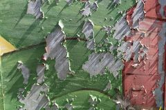 Corroding metal wall Stock Image