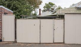 Corrogated Iron Fence Stock Photography