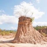 Corrosão antiga do solo pela chuva e pelo vento imagens de stock royalty free