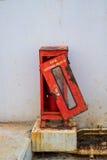 Corrosão da caixa do extintor fotos de stock royalty free