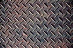 Corrosão da oxidação do assoalho do ferro fotografia de stock