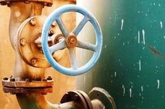 Corrosão da válvula do metal foto de stock