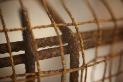 Corrosão devido à oxidação fotografia de stock