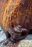Corrosão do metal & delaminação - extremo imagens de stock royalty free