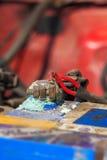 Corrosão na bateria de carro imagens de stock