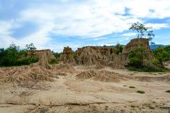 Corrosión antigua del suelo en Na Noi, Tailandia del dinar del sao Fotos de archivo libres de regalías