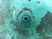 Corrosión de cobre del metal imagen de archivo