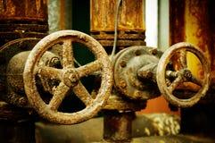 Corrosión de la válvula del metal Foto de archivo libre de regalías