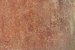 Corrosión roja del metal, vieja textura del panel fotografía de archivo libre de regalías