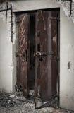 Corrosie op een deur royalty-vrije stock afbeelding