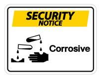 Corrosief het Symboolteken van het veiligheidsbericht op witte achtergrond, Vectorillustratie stock illustratie