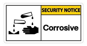 Corrosief het Symboolteken van het veiligheidsbericht op witte achtergrond, Vectorillustratie vector illustratie