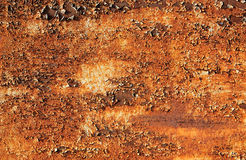 Corrosion of metal. An abstract piece of rusty metal, corrosion Stock Image