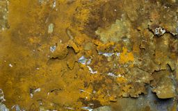 The texture of rust on metal. stock photo