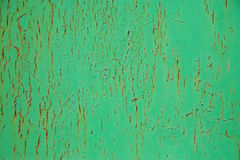 Corrosion of metal. Rusted green surface close-up, corrosion of metal Stock Image