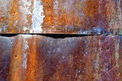 Corrosion on metal. Textured background Stock Photo