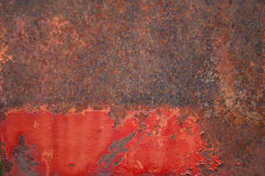Corrosion on metal. Textured background Stock Photos