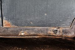 Corrosion on the old car.  royalty free stock photos