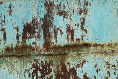 Corrosion painted sheet metal background Royalty Free Stock Photo