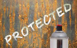 Corrosion protection. Aerosol - corrosion protection for metal Stock Images